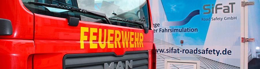 Feuerwehrfahrzeug und SiFaT Fahrsimulator